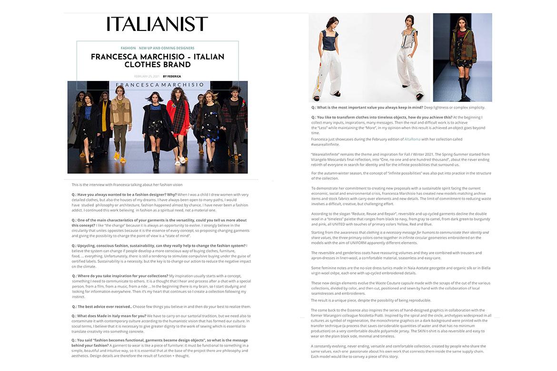 Italianist #francescamarchisio Italian clothes brand